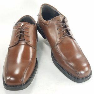 Nunn Bush Brown Leather Comfort Gel  Dress Shoes